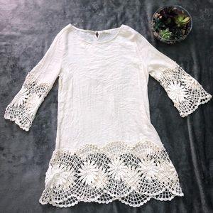 Hippie boho lace top size L